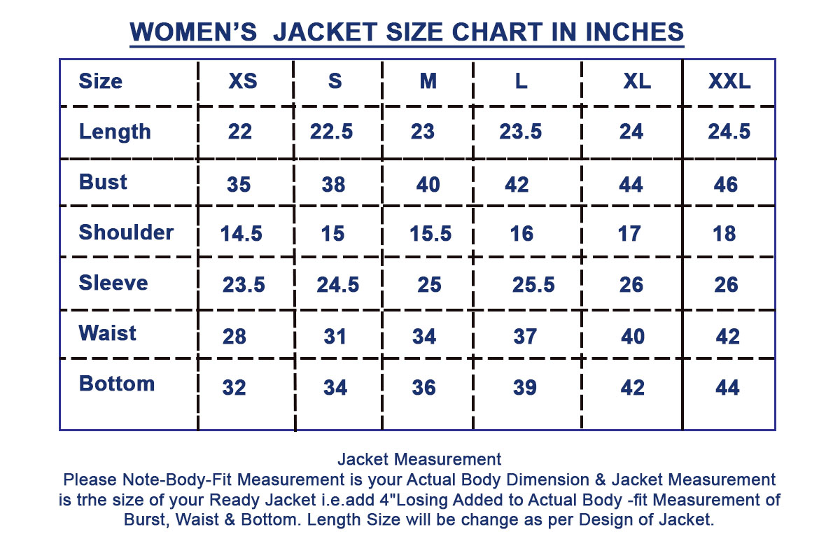 Size Guide Size Chart Leatherexotica Com