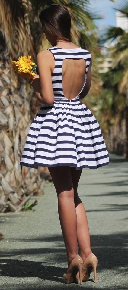how to make a flared back dress