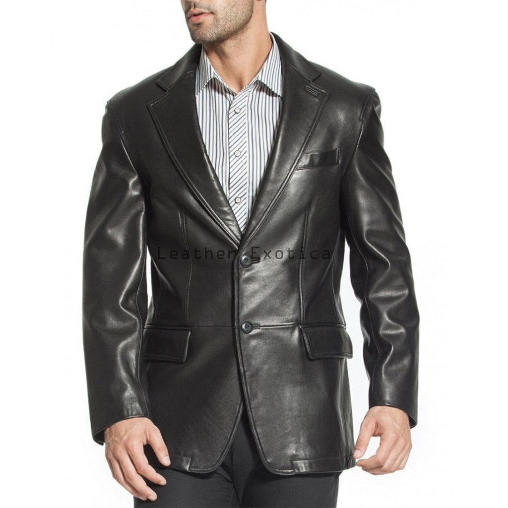 About Men's Leather Blazers Overland Sheepskin Co. is the most trusted source of quality men's leather blazers. Our leather blazers for men are meticulously constructed of impeccably fine leather for long-lasting warmth, comfort, and style.