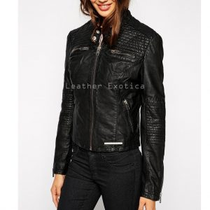 65b5e9df2fb957 Charming Style Women Leather Zippered Jacket