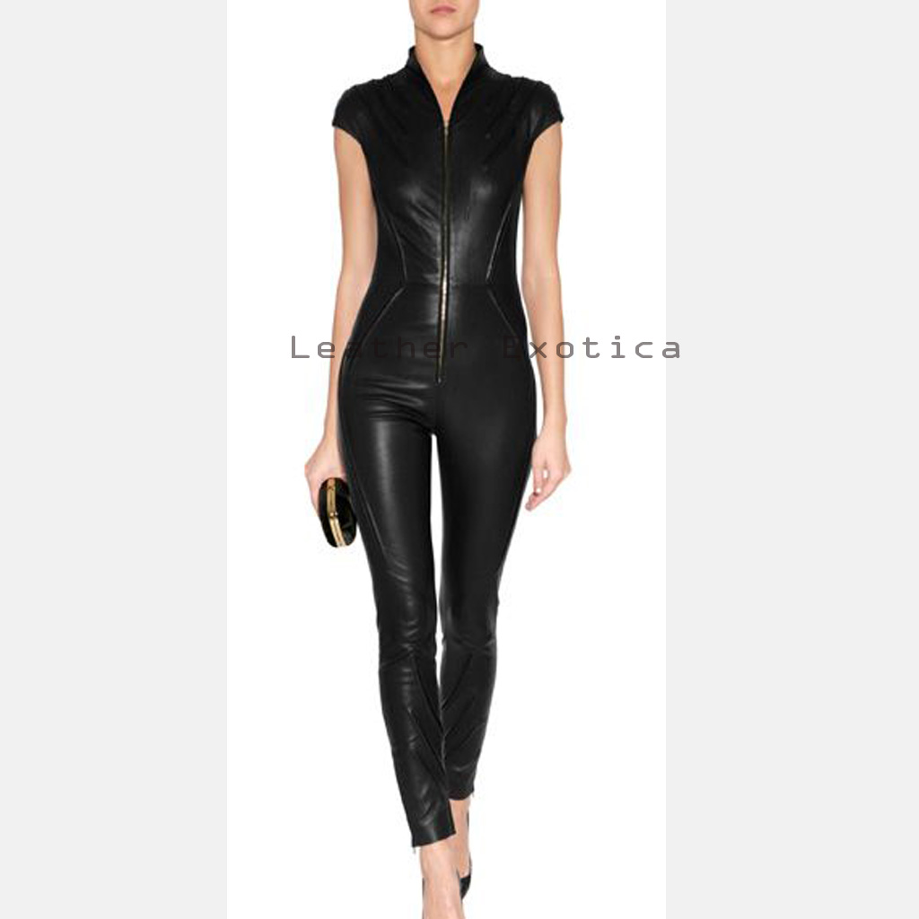 Women Online Leather Stunning Jumpsuit| Unique Designer ...