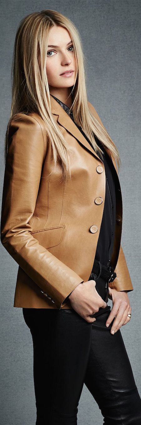 LEATHER BLAZER  WOMEN