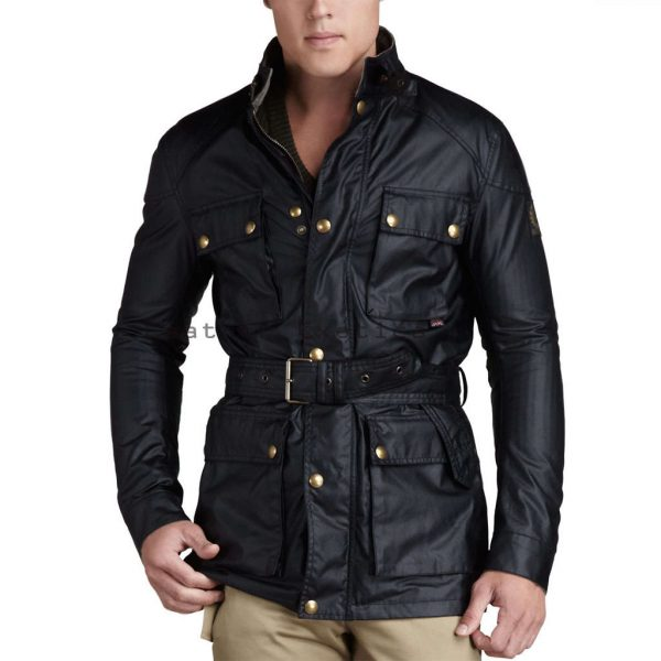 Online Men Leather Military Coat | Men Leather Military Coat