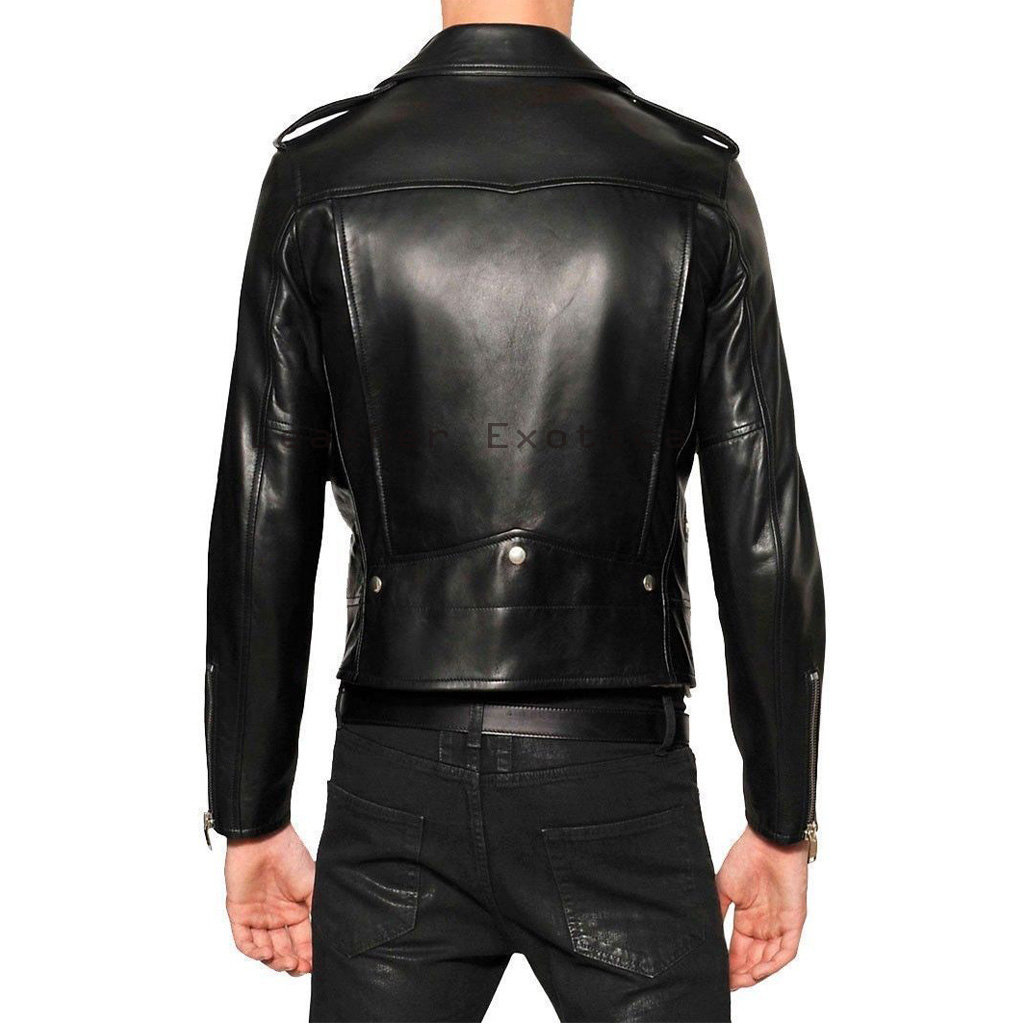 Leather jacket for motorcycle riding - Stunning Men Leather Motorcycle Jacket