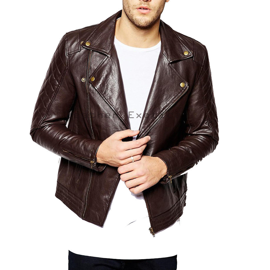 Cool Style Men Leather Jacket Motorcycle Men Leather Jacket