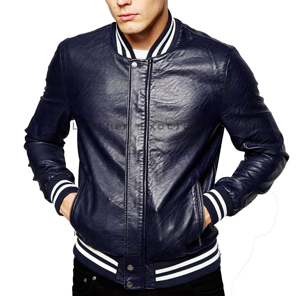 Designer Style Men Leather Jacket | Online Men Leather Classic Jacket