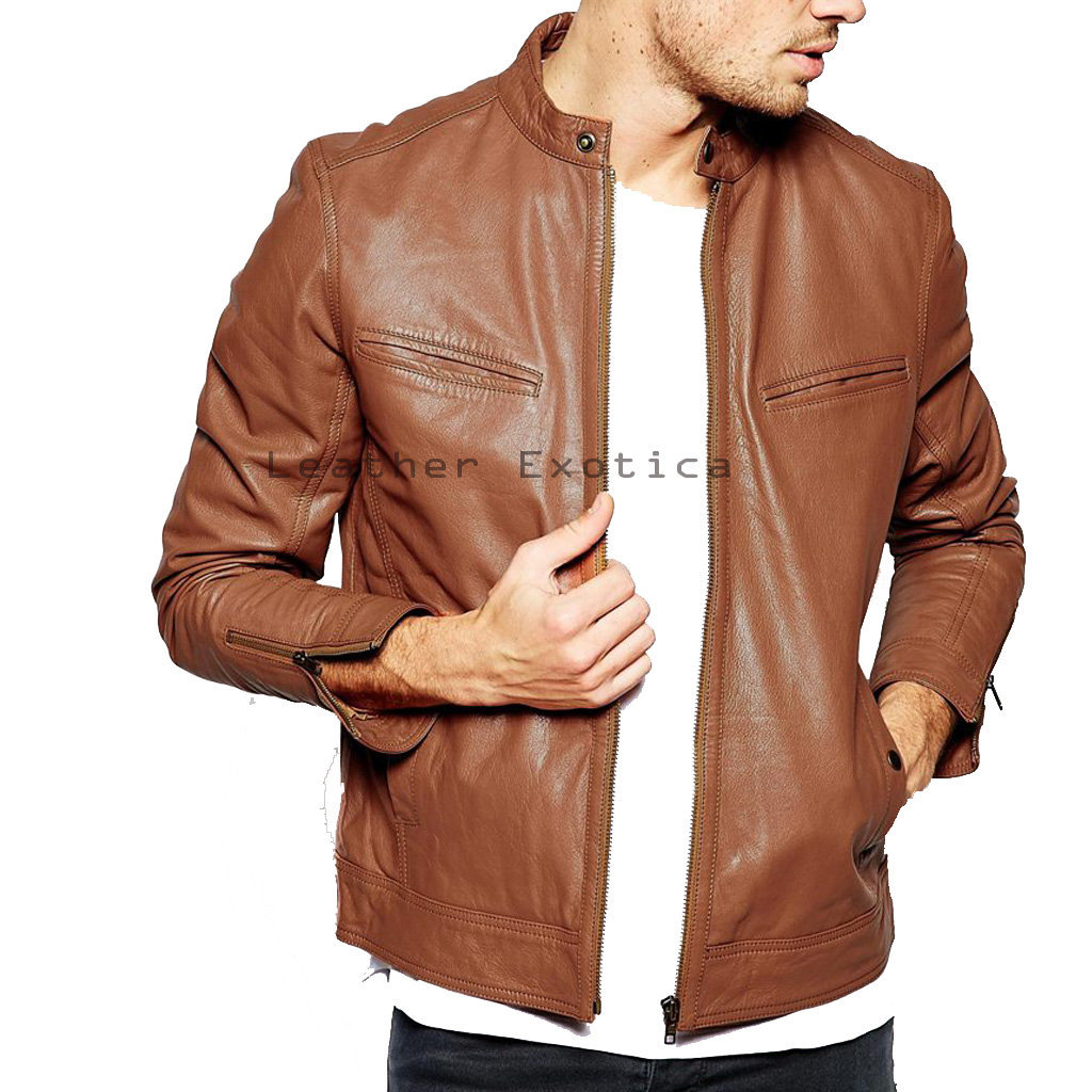 Buy Online Men Leather Sober Jacket| Elegantly Designer Leather ...