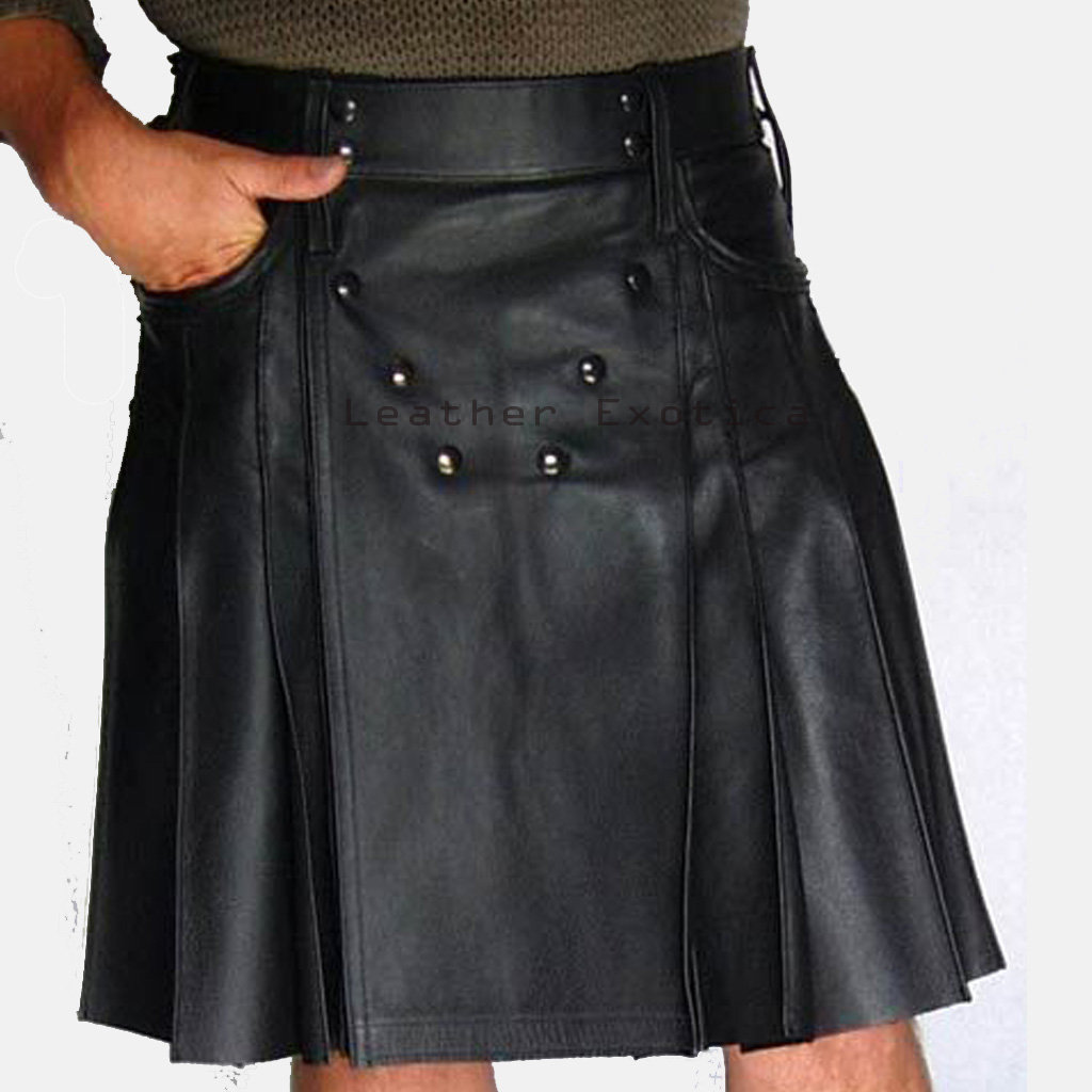 studded men leather kilt online men leather kilt