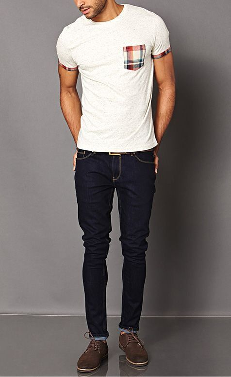 Guidelines to wear with skinny jeans Shirts for thin guys