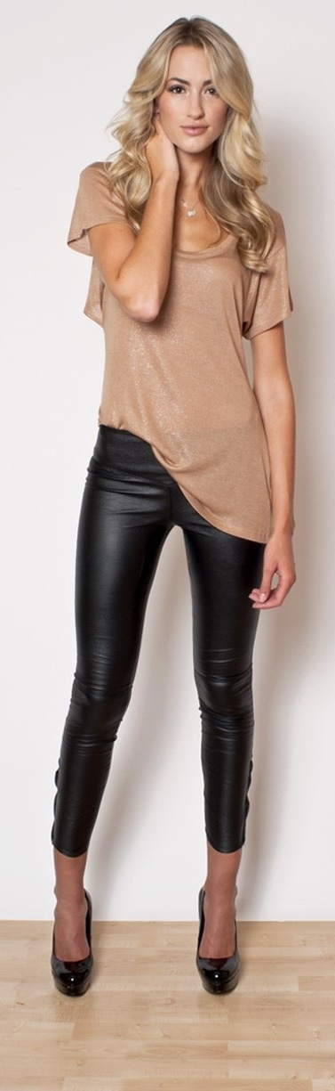 New High Quality Celebrity Brown Red Black Leather Stretch Pants Sexy Fashion Boycon Pant-in Pants ...