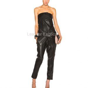 biker leather jumpsuit