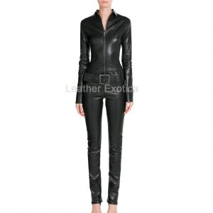 Designer Leather Jumpsuit