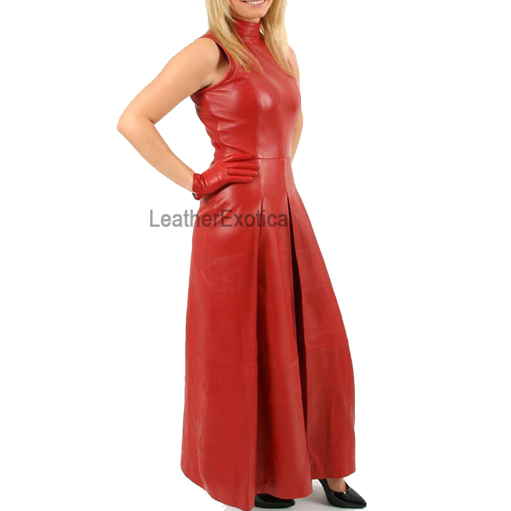 Valentines Day Special Red Leather Gown Leatherexotica