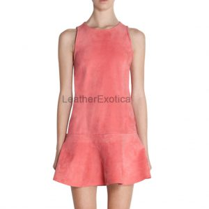 balenciaga-pink-drop-waist-suede-dress-product-4-6391525-333698754