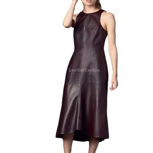 Calf Length Leather Dress