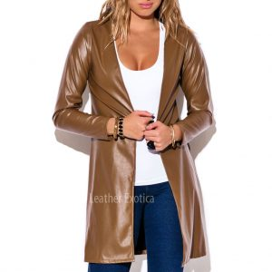 brown-faux-leather-coat