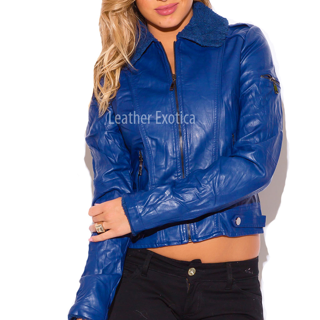 Motorcycle Jacket With Fur Collar