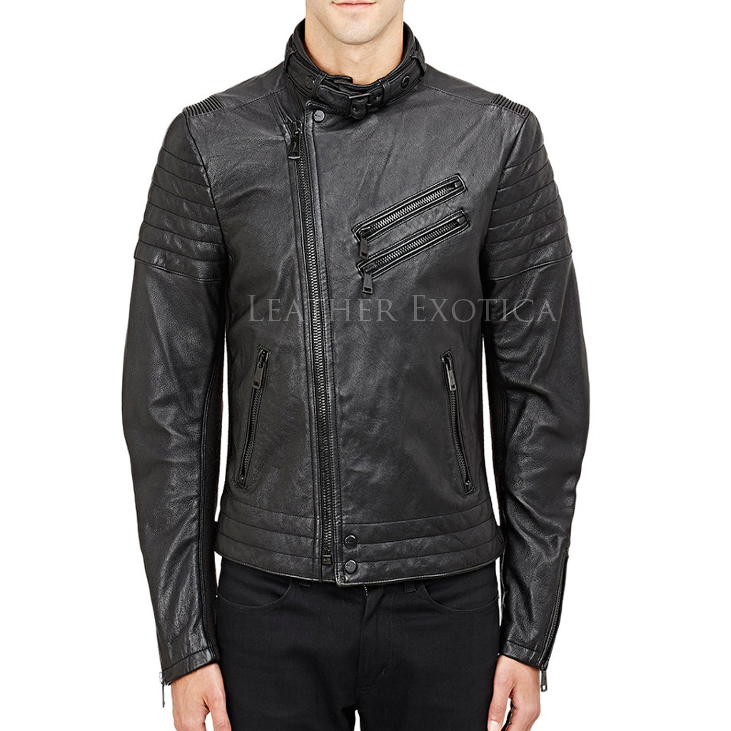 Motorcycle Summer Leather Jacket For Men Leatherexotica
