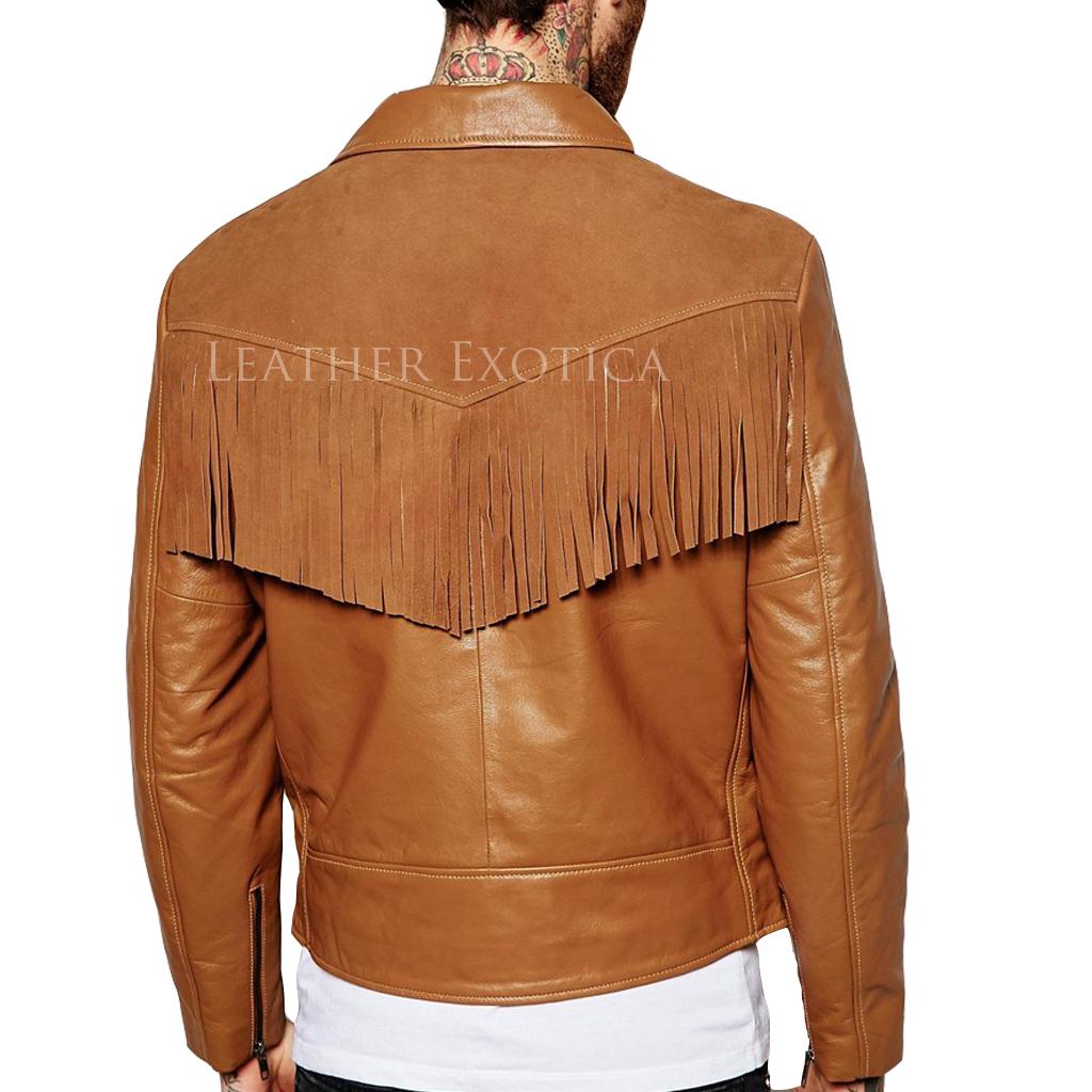 dd5971c1d1bc ... Suede Fringe Detailing Motorcycle Jacket For Men. Sale! LEMJ0057sss ·  LEMJ0057b LEMJ0057