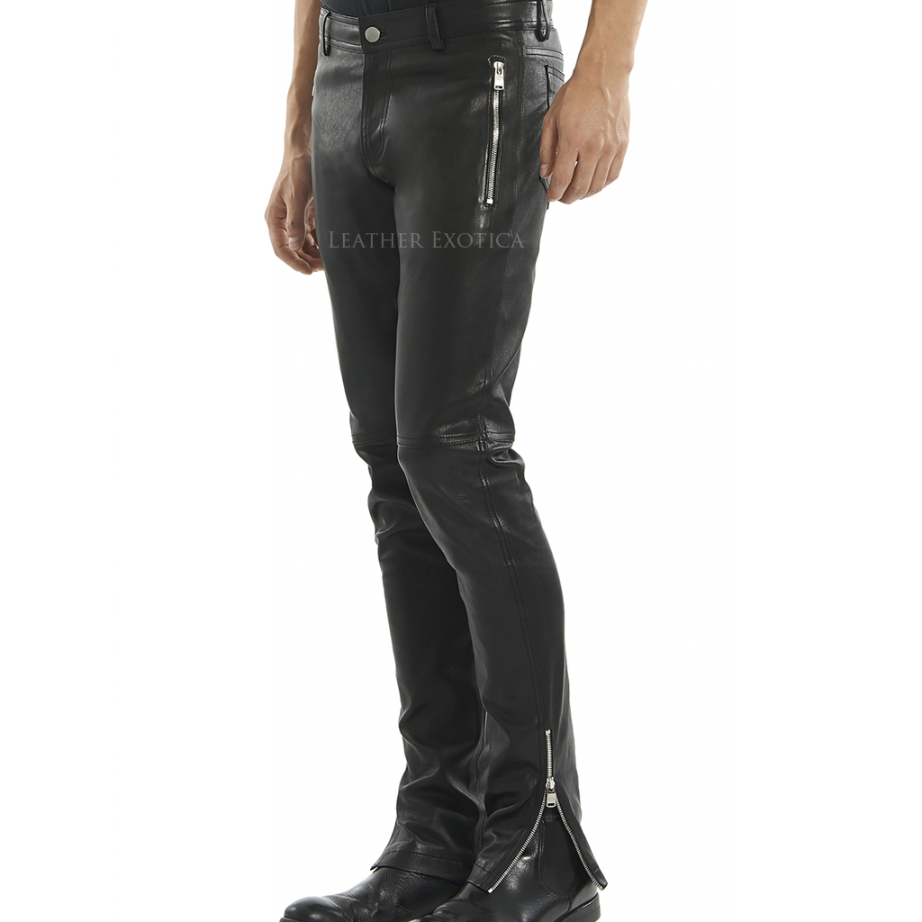 New Style Leather Biker Pant For Men Leatherexotica