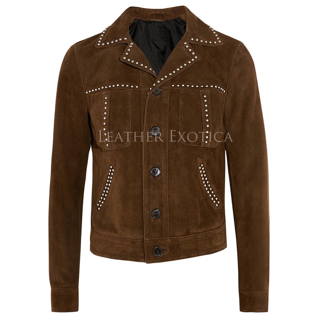 Studded Women Leather Jacket Leatherexotica