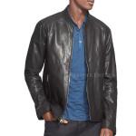Classic Style Men Leather Moto Jacket
