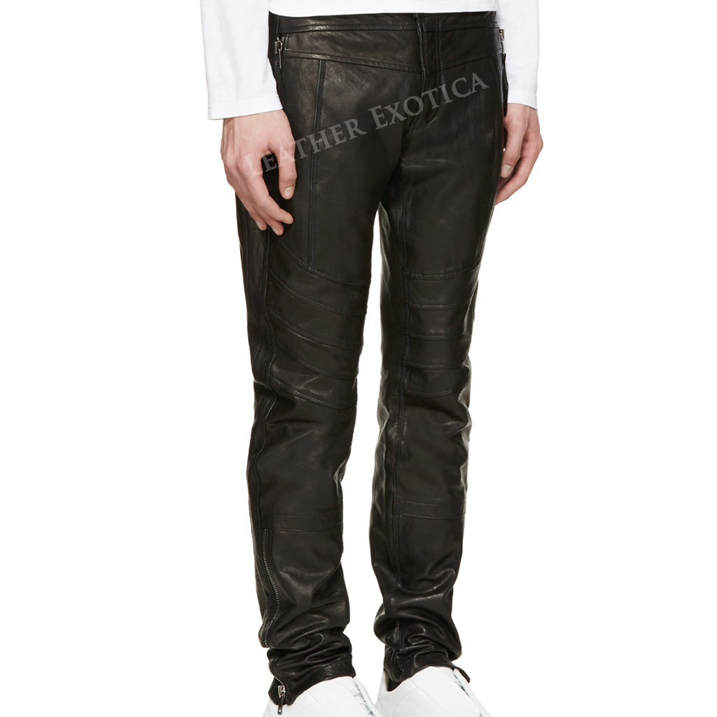 Genuine Slim Fit Special Leather Pants. One trend which is always preferred of passionate fashioner's the collections of leather apparels. Throughout whole year the choice of leather is magnificent to look sleek and amazing.