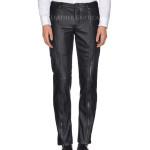Stylish Straight Leg Men Leather Pants