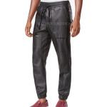 Men Leather Jogger Pants
