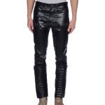 Tapered Leg Men Leather Pant