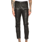 Ankle Length Men Leather Trouser