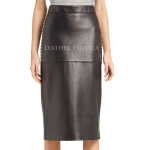 Studded Leather Skirt For Women