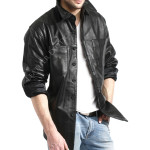 Stylish Leather Shirt Online For Men