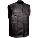 Motorcycle Black Leather Vest