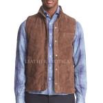 Suede Leather Vest For Men