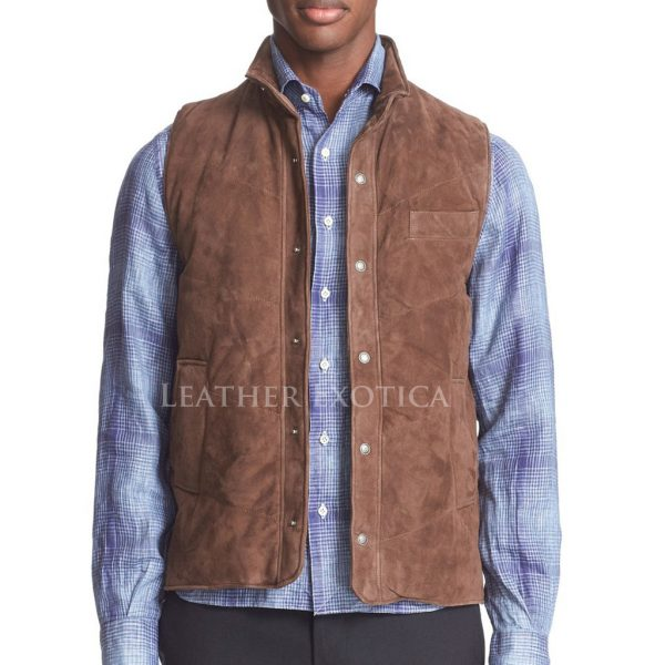Suede Leather Vest For Men Leatherexotica