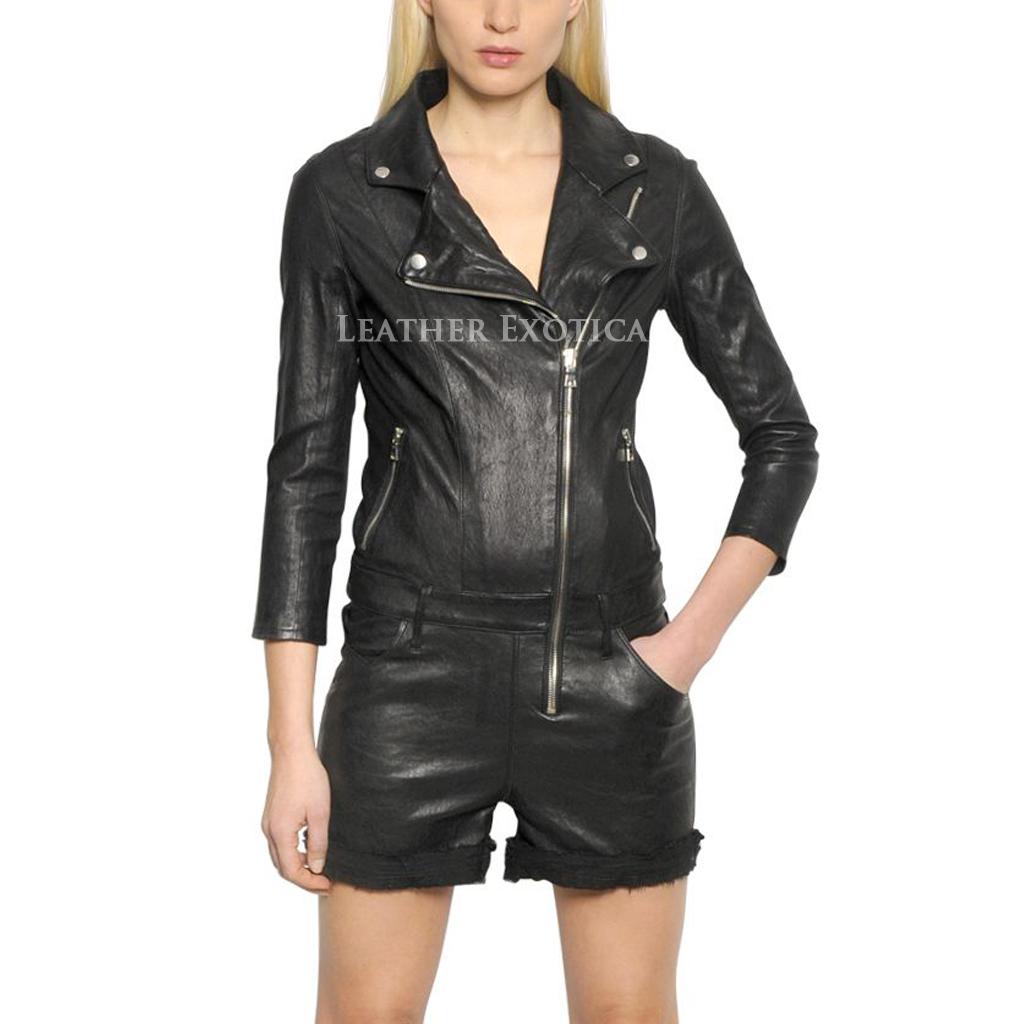 Navy Blue Leather Jacket