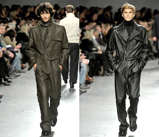 men leather jumpsuits