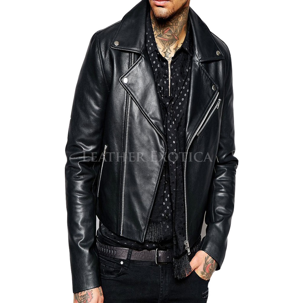 Leather jacket biker