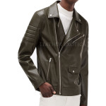 Trendy Leather Biker Jacket For Men