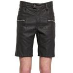 Mini Length Classic Summer Men Leather Shorts