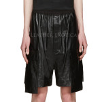 Cool Style Men Leather Shorts
