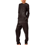 Classic Style Women Leather Jumpsuit