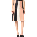 Classic Style Colorblock Leather Skirt For Women