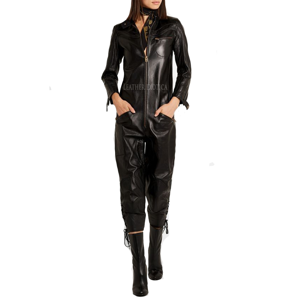 New Style Leather Jumpsuits For Women Leatherexotica