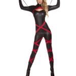 Hot Ninja Style Leather Catsuit