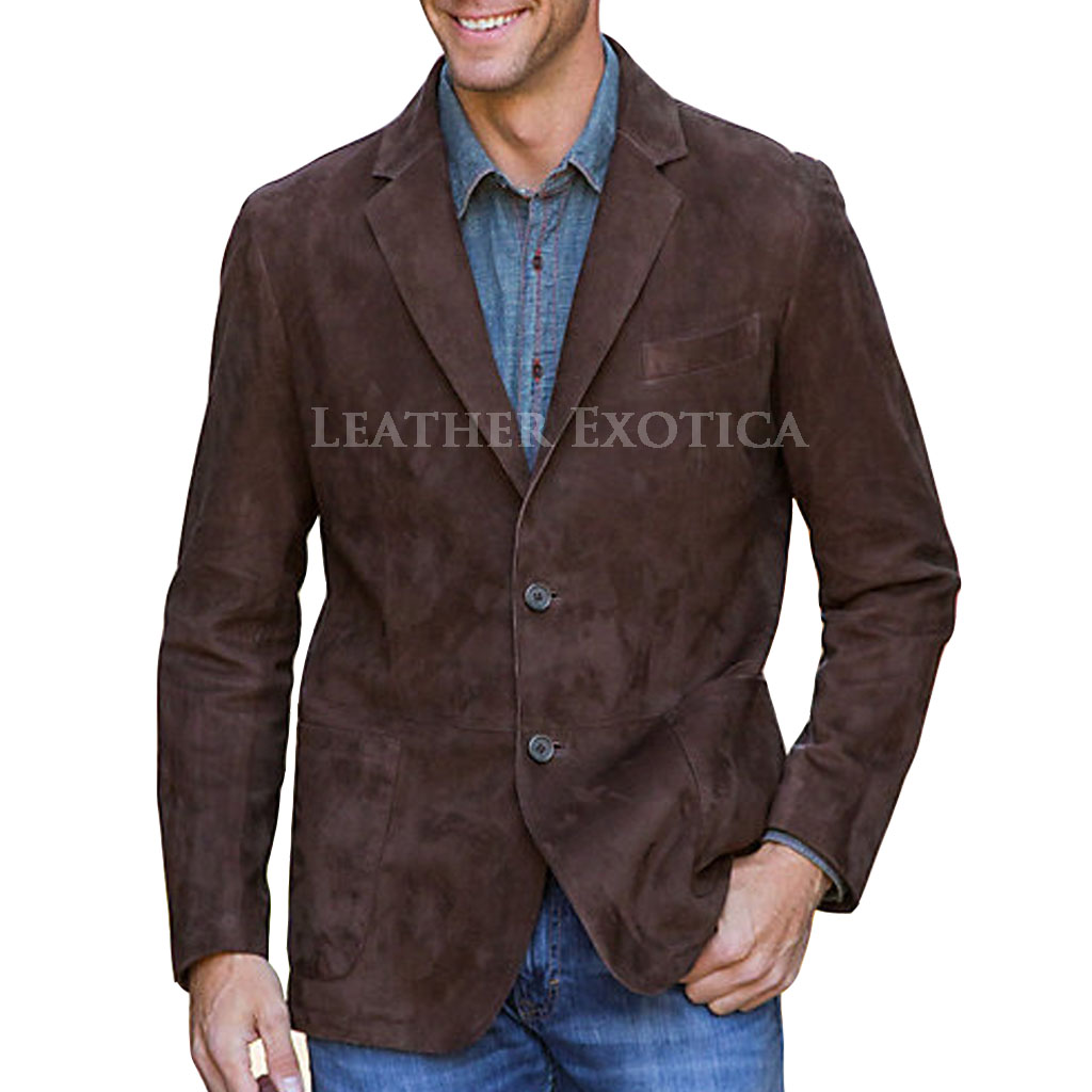 Men Suede leather Blazer