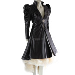 Halloween Special Long High Low Leather Coat