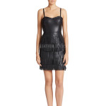 Fringed  Leather Sheath Dress
