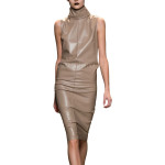 Classic Style Leather Dress For Women